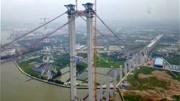 航拍虎门世界第一跨径大桥