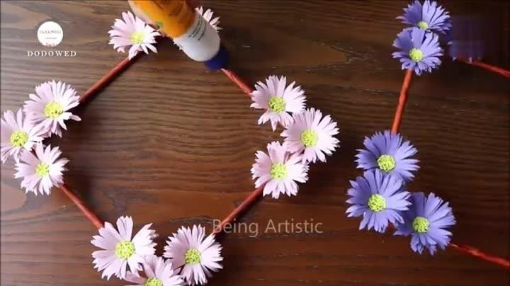 简单立体纸花球步骤