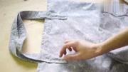 钩织北欧布条线单肩包,新手能学会