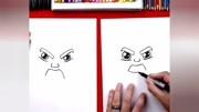 教小宝宝画一个帅气的小王子!儿童简笔画教程!