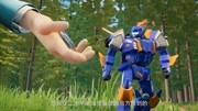 超能獸電戰隊三大恐龍佐德合體為巨能機器人,消滅鳥頭怪獸