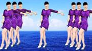 自由双人舞广场舞《过河》32步DJ对跳教学