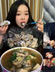 大胃王吃播 吃麻辣八爪鱼 吃澳洲大龙虾