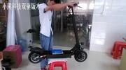 震驚!男后期公然飆車 小米電動滑板車