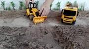 玩泥巴的乐趣蓝翔挖掘机拖拉机装载机儿童玩具图片