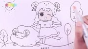 十二星座简娃娃手绘之白羊座笔画!双子座男生会为女生花钱最多么图片