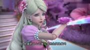 動畫片《新版葫蘆娃》:大魔王用魔杖施展法力,將七彩山連根拔起