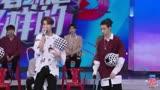 ninepercent快樂大本營最新花絮黃明昊Justin現場rap