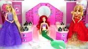 芭比娃娃玩具屋迪士尼公主