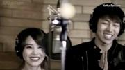 《iu李智恩》正在唱歌的iu被火花吓了一跳!惊吓的样子也太可爱了