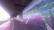 【拍客】四川绵阳河堤现3D画廊