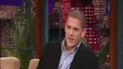 Wentworth Miller delivers a speech at the confere