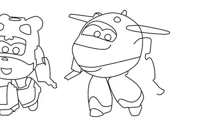 超级飞侠画画书