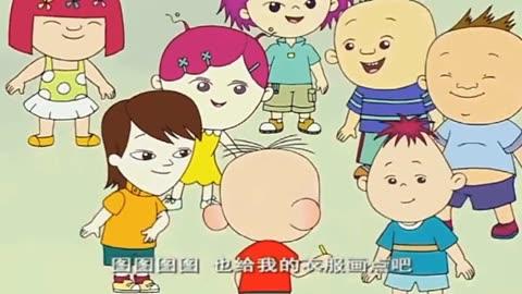 大耳朵图图把幼儿园小朋友们的衣服画脏了,妈妈很生气