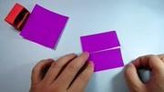 儿童手工折纸家具,简单又漂亮小书柜的折法图片