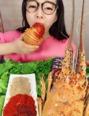 大胃王吃播 吃麻辣大龙虾