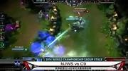 LOL經典戰役,2014全球總決賽 FNC vs OMG 50血翻盤 世紀之戰