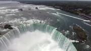 航拍尼亚加拉瀑布壮观景象