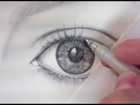 素描入门基础教程如何用铅笔画一个逼真的眼睛