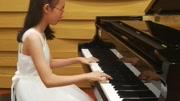 小雨演奏全國鋼琴1級考級曲目《旋律與伴奏練習曲》1(車爾尼)