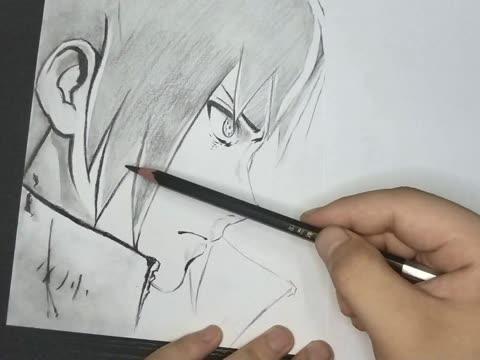 火影忍者-佐助手绘