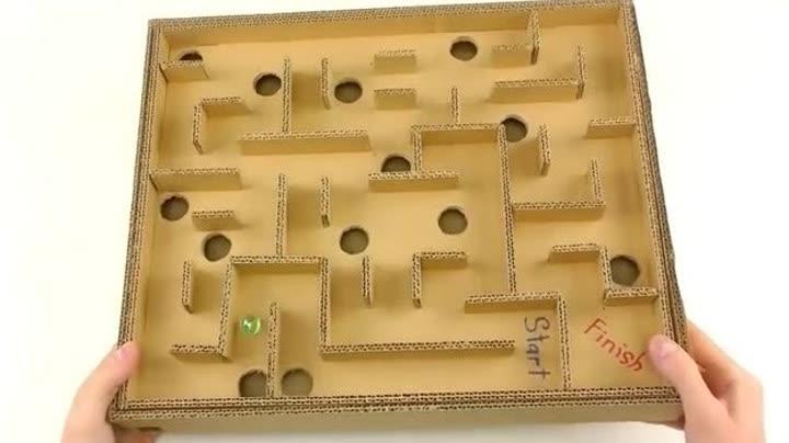 手工纸板-教你如何用纸板制作迷宫