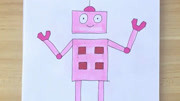 简笔画之如何画机器人(5)