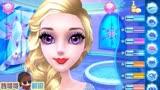 冰雪奇緣艾莎公主化妝的小游戲,來看看哪個口紅的顏色更加好看