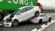"""""""致命""""的高速公路交通事故,一定要保持合理車距!"""