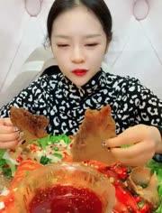 大胃王吃播 吃麻辣澳洲大龙虾
