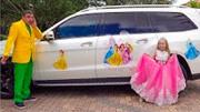 小朋友想要成為迪士尼公主,真有意思