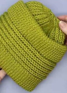 老年帽子纯手工编织,毛线帽子的编织花样,用棒针编织简单又好学