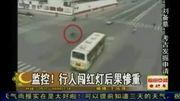 深圳交警查处行人闯红灯