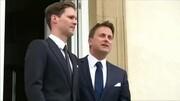 盧森堡首相貝特爾與同性伴侶舉行婚禮
