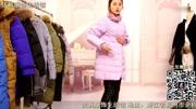 尾源网423期380元女装长款羽绒服90绒女装批发看货下单视频