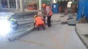 南通正道钢结构/抗震支架/成品支架工程焊接现场