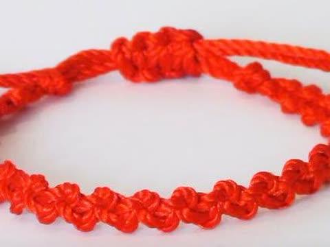 如何编最简单的红绳手链,手工编绳教程
