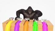 玩具馬對號入座   認識顏色 動物 形狀  學習英語    嬰幼兒益智英語啟蒙