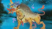 《山海經》中記載了一種怪獸,鳥獸結合,活在水中