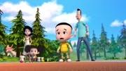 【蓝灵猫?#30475;?#22836;儿子与小头爸爸俄罗斯奇遇记 安全教育 游戏
