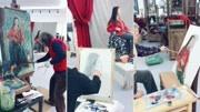 北京宋庄画家村画家模特写生图片