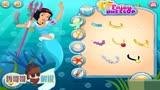 冰雪奇緣艾莎公主和其他同伴們化身成為了美人魚好玩的游戲