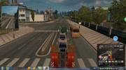 歐洲模擬卡車2:差一點就追尾了!