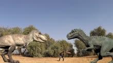 侏罗纪公园—男子引诱?#25945;?#38712;王龙互相战斗!!
