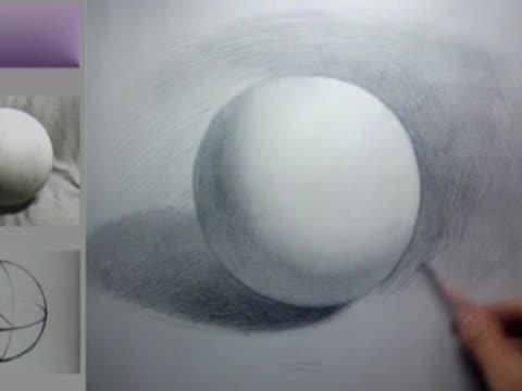 美术基础 几何球体的素描画法和步骤