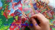 3米長的八駿圖手工十字繡,繡了一個多月了,大概模樣終于出來了