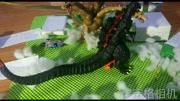 哥斯拉vs閃電龍,搞笑侏羅紀恐龍 兒童動畫