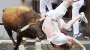 斗牛王發瘋了牛角刺進另一只牛身體, 另一只直接給斗廢了