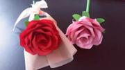 折纸玫瑰花,教你制作漂亮的玫瑰花,折纸教程