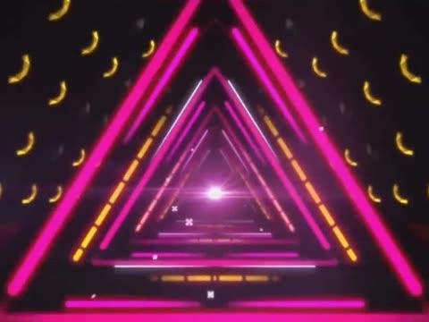 咋啦爸爸舞蹈演出舞台高清动态led大屏幕背景视频素材 制作